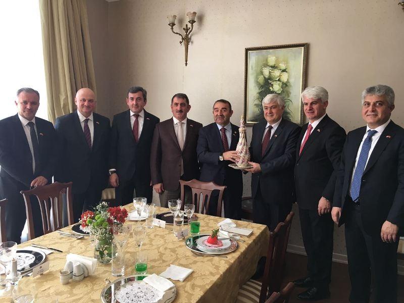 Dostluk gurubu Gürcistan Büyük elçiliğinde bir araya geldi.