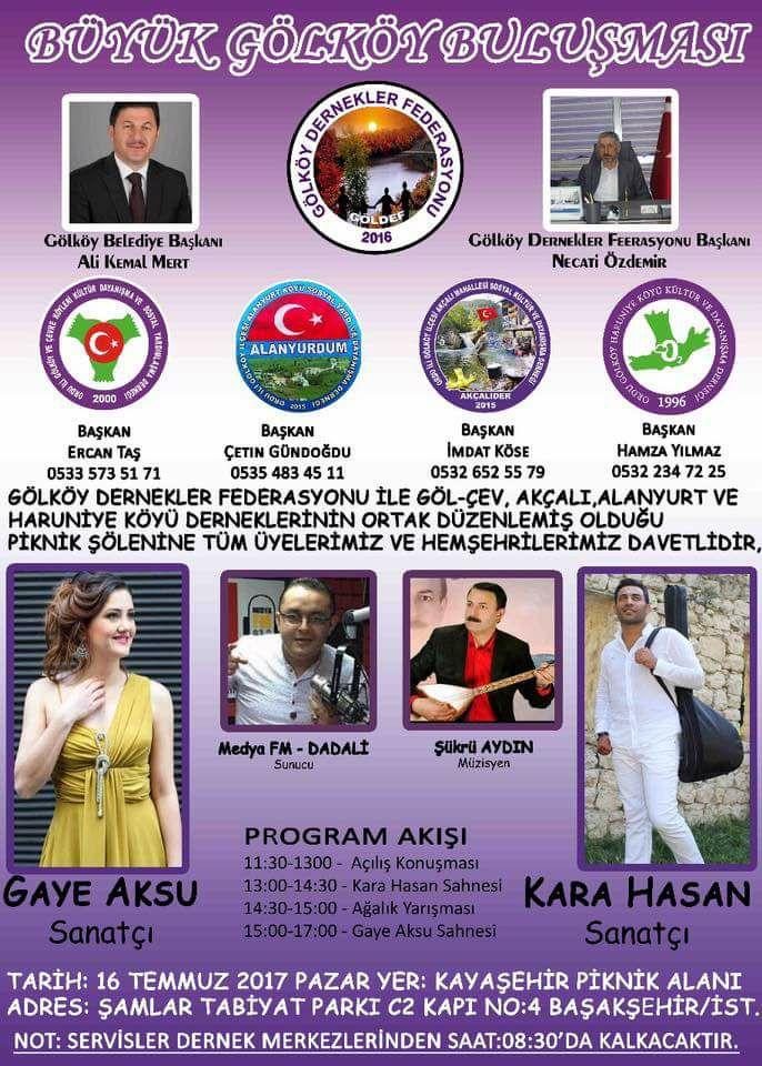 Ali Kemal Mert İstanbul'da Gölköy'lüler Pikniğine Katıldı