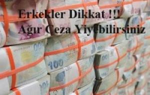MİLYONLARCA ERKEĞİ İLGİLENDİREN HABER. AMAN DİKKAT!!!