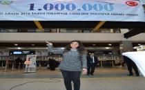 Ordu-Giresun Havalimanı'nda 1 Milyonuncu Yolcu Törenle Karşılandı