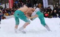 Şavşat'ta Kar Güreşleri Nefes Kesti