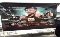 Yenikapı'ya ''Kahraman Savaşçılar'' Pankartı Damga Vurdu